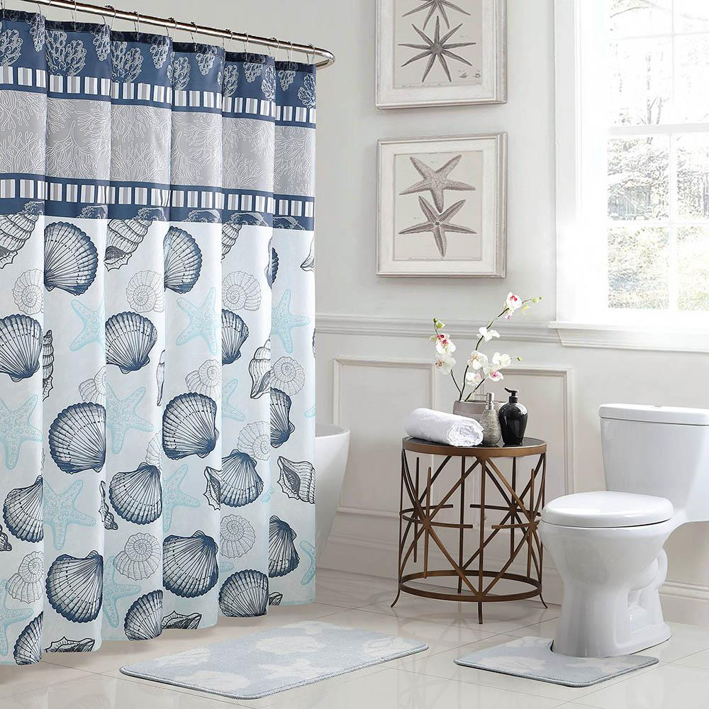 Bath Fusion Island 18 in. x 30 in. Bath Rug and 72 in.