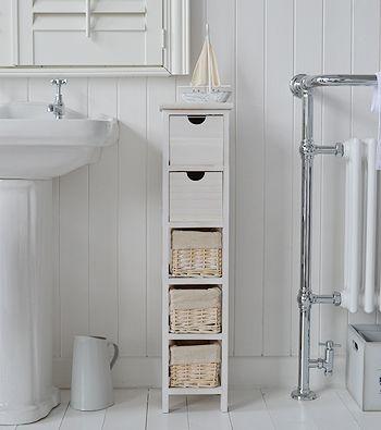 Tall slim narrow 20cm bathroom storage
