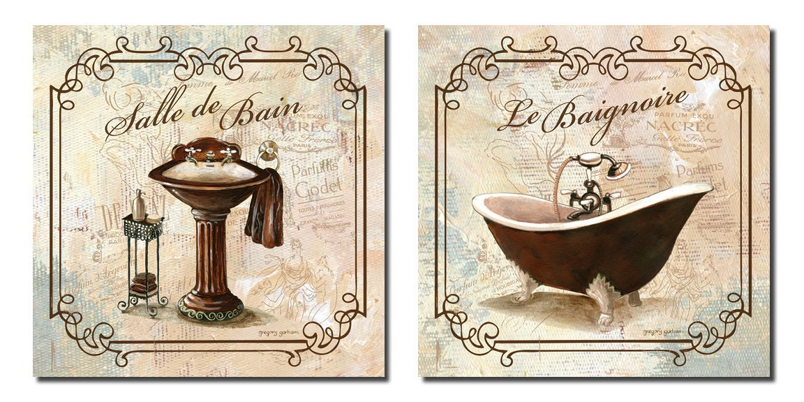 Bathroom Wall Art Bath Decor Canvas Pictures Posters Decorating Vintage 12