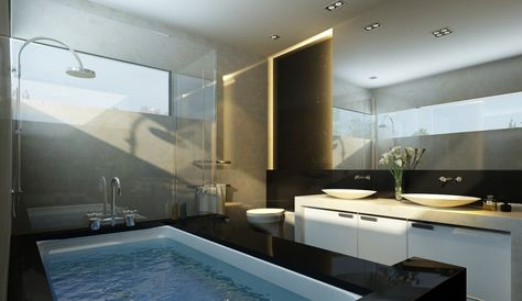 most beautiful bathrooms    for Your House : Cool Bathroom Design For  Cabin Home Interior Ideas