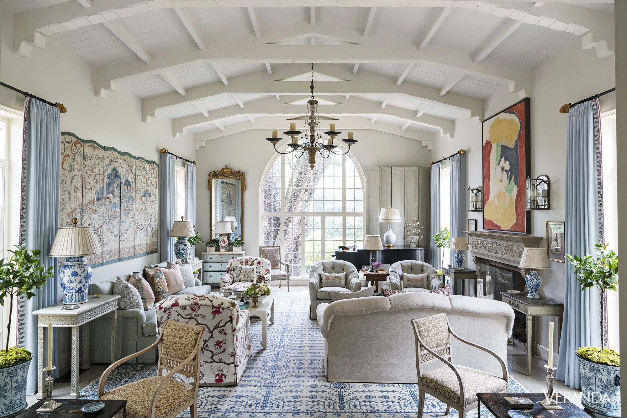 image. James Merrell. Spanish Colonial Living Room