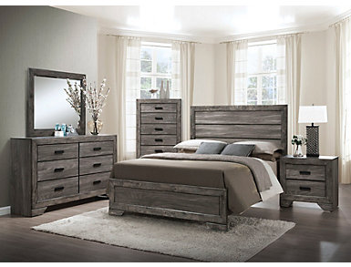 Nathan Grey 3 Piece King Bedroom Set, , large
