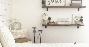 Pin by Dena Rowe on Blogs & Instagrams   Farmhouse bedroom decor, Farmhouse  master bedroom, Shelves in bedroom