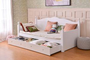 Hot Sale Modern Durable Wooden Children Bedroom Furniture Sets Kids Sofa Bed  Girls Bed with Trundle