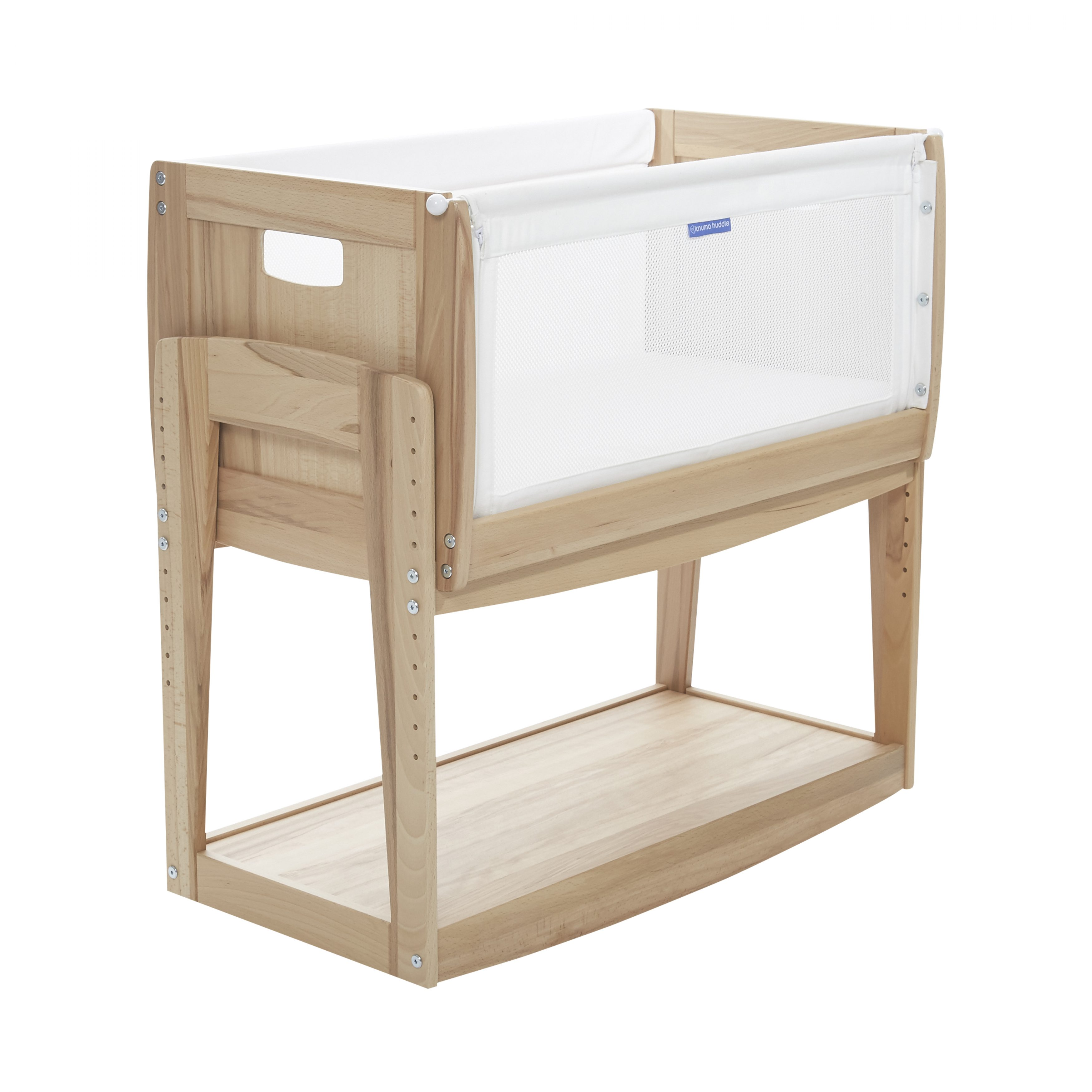 rustic beech Huddle 4in1 Bedside Crib
