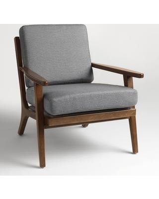 Xander Armchair: Gray - Fabric - Slategray by World Market Slategray