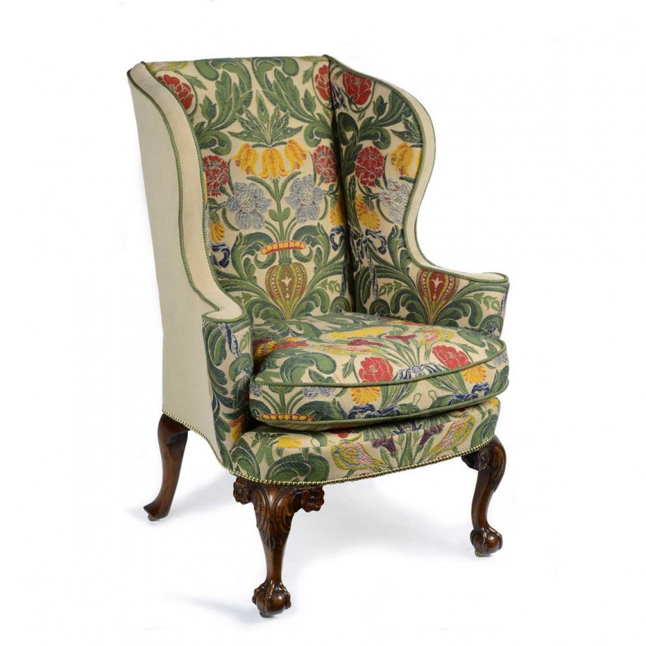 awesome upholstery fabric for wingback chair off white accent armchair  grey printed premium office chairs replacement