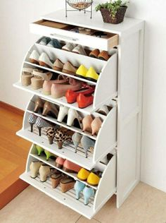 IKEA shoe storage solution Shoe Storage Ideas Bedroom, Shoe Storage For  Small Closet, Shoe