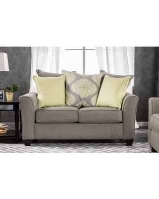 Furniture of America Lugo Contemporary Loveseat, Gray