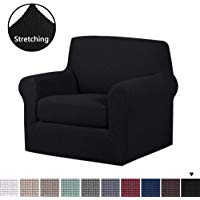 H.VERSAILTEX 2 Piece Stretch Stylish Furniture Cover/Protector Featuring  Jacquqard Textured Twill Fabric