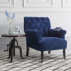 Pimlico Button Back Velvet Armchair Armchairs Uk, Velvet Armchair, Velvet  Accent Chair, Accent