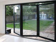 Bi-Fold Doors- Garage Kitchen Diner Extension, Courtyard Design, Folding  Doors,