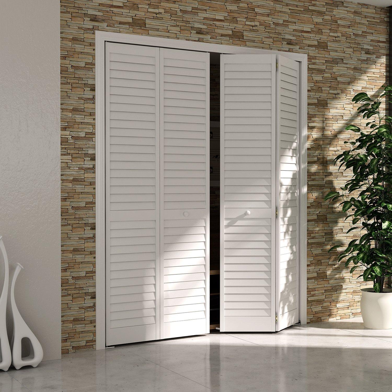 Traveller Location: Bi-fold Closet Door, Louver Louver Plantation White (24x80):  Home & Kitchen