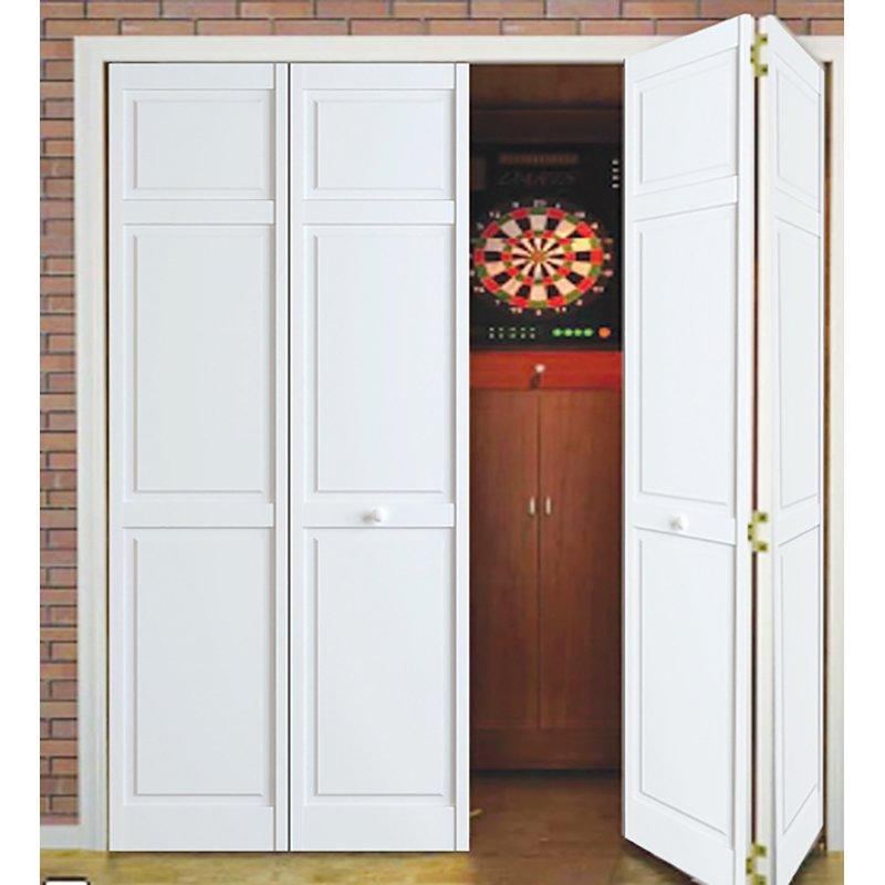 Traditional Solid Wood Panelled Bi-Fold Door