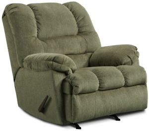 Image is loading LARGE-Green-Oversized-Rocker-Recliner-Arm-Chair-Recliners-