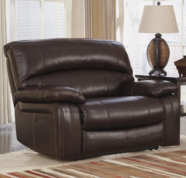Big Man Reclining Chair, extra wide seat, Ashley, Leather, http:/