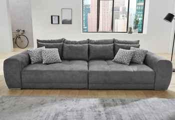 Jockenhöfer Gruppe Big-Sofa - dunkelgrau