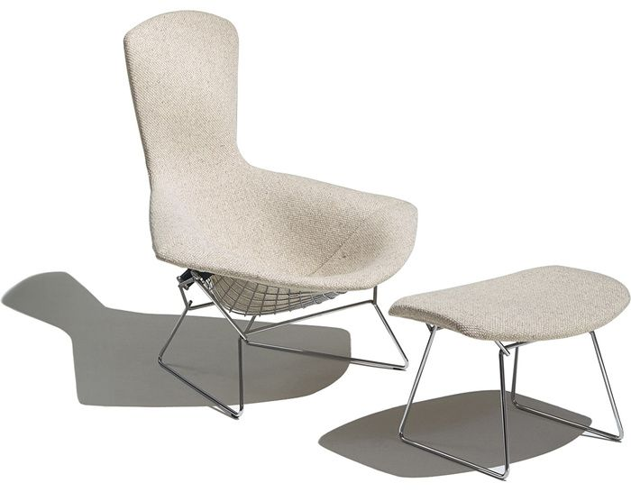my entire childhood this chair sheltered me. We flipped over the ottoman  and used it like a rocking boat. bertoia bird chair & ottoman