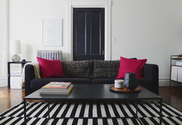 black and white striped area rug