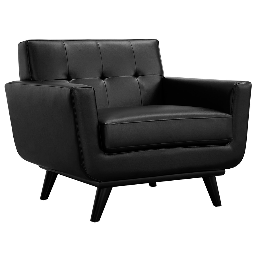 Call to Order · Empire Black Bonded Leather Modern Lounge Chair