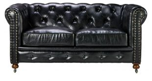 Home Decorators Collection Gordon Black Leather Loveseat-0849500700 - The  Home Depot