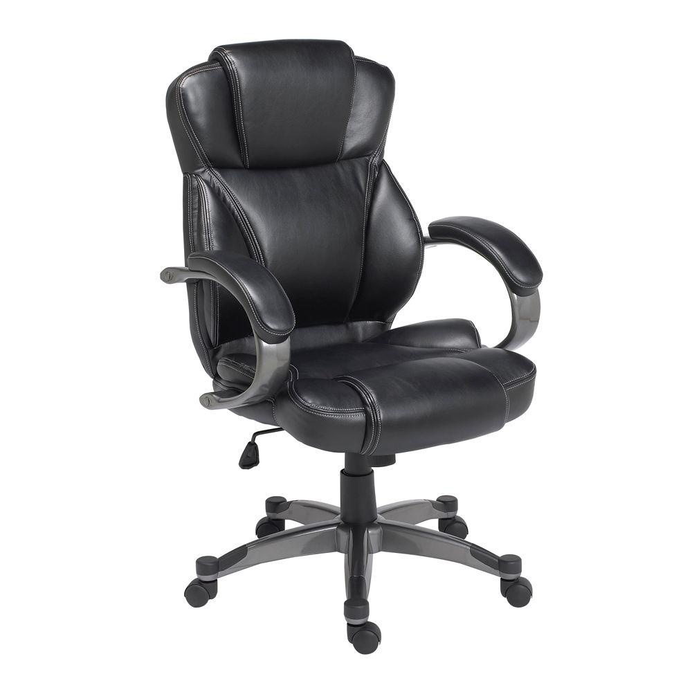 Z-Line Designs Black Leather Executive Office Chair