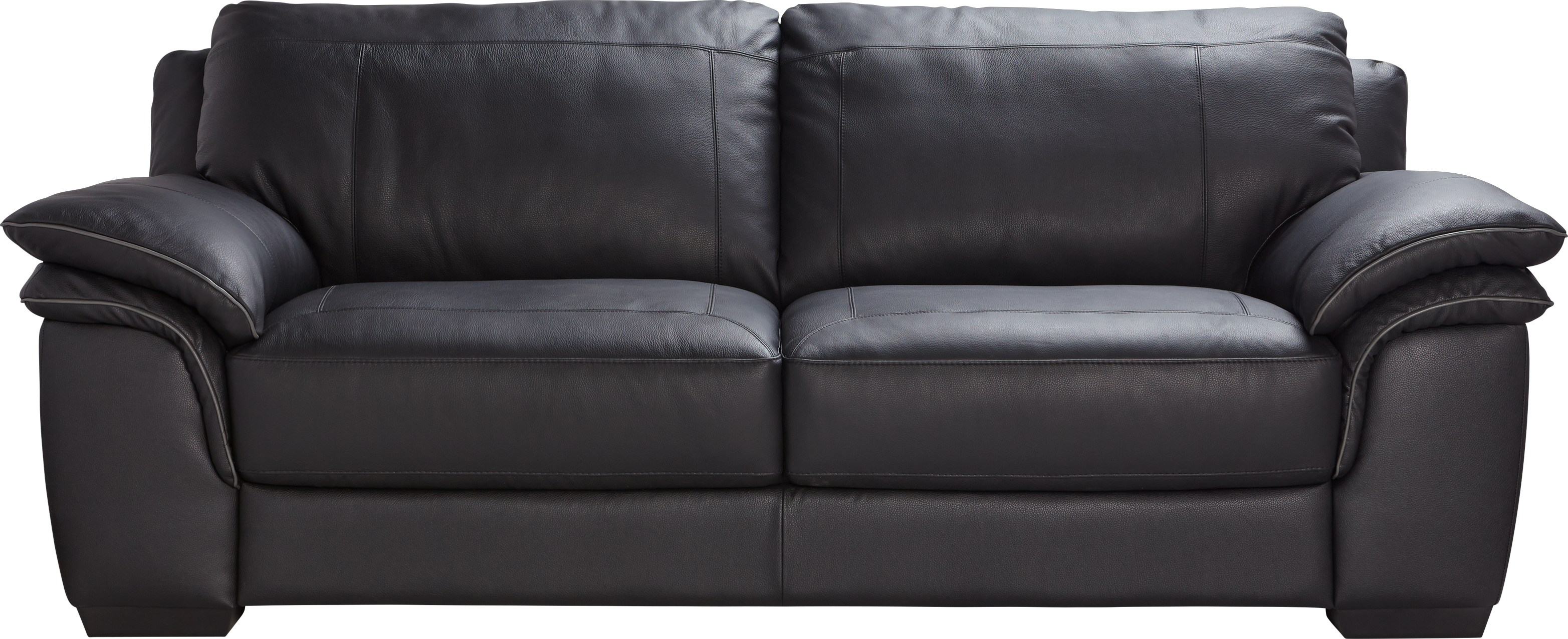Cindy Crawford Home Grand Palazzo Black Leather Sofa - Leather Sofas (Black)