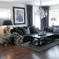Wohnzimmer Möbel Schwarz. Contemporary Living Room