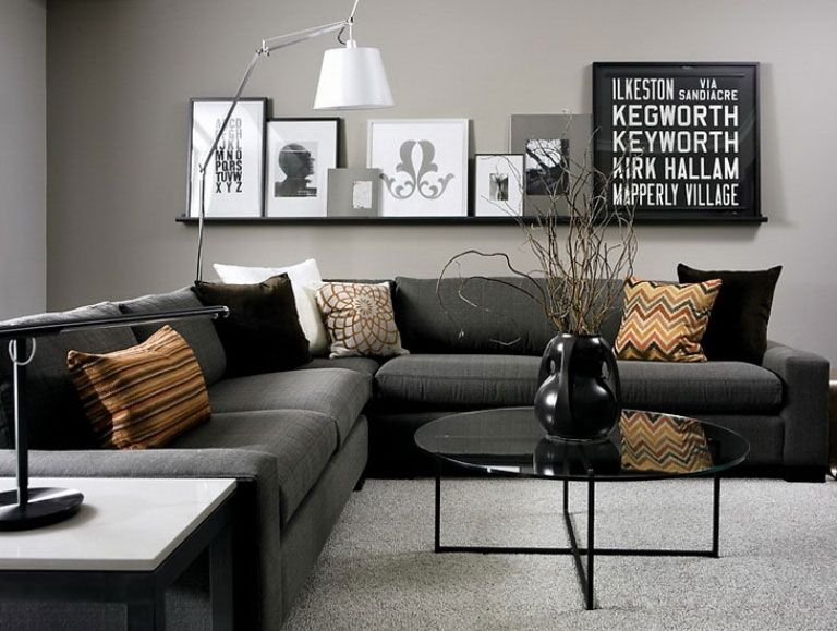 Dark Grey Sofa Living Room Ideas, Black Grey Living Room, Gray Living Rooms,