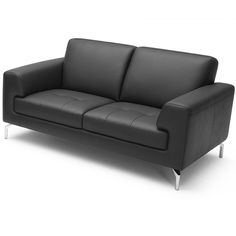 Tonic Loveseat - Black Leather White Sofas, Sofa Covers, Dimensions, Modern  Sofa,