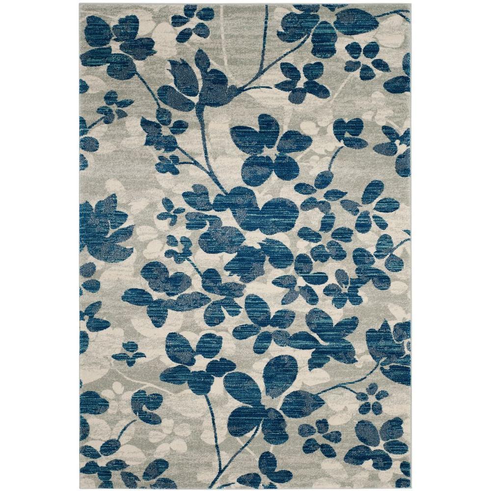 Safavieh Evoke Gray/Light Blue 8 ft. x 10 ft. Area Rug