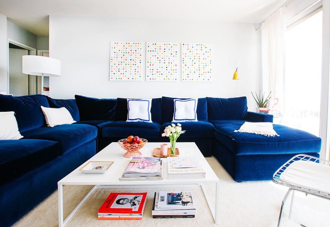 Sectional Sofa Designs Blue Sofa