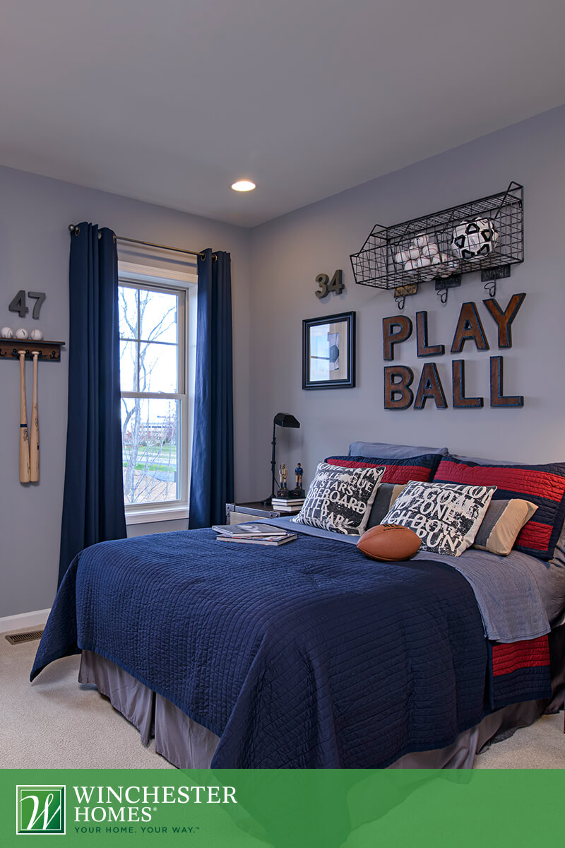 Play Ball Sport Teenage Boy Room Theme