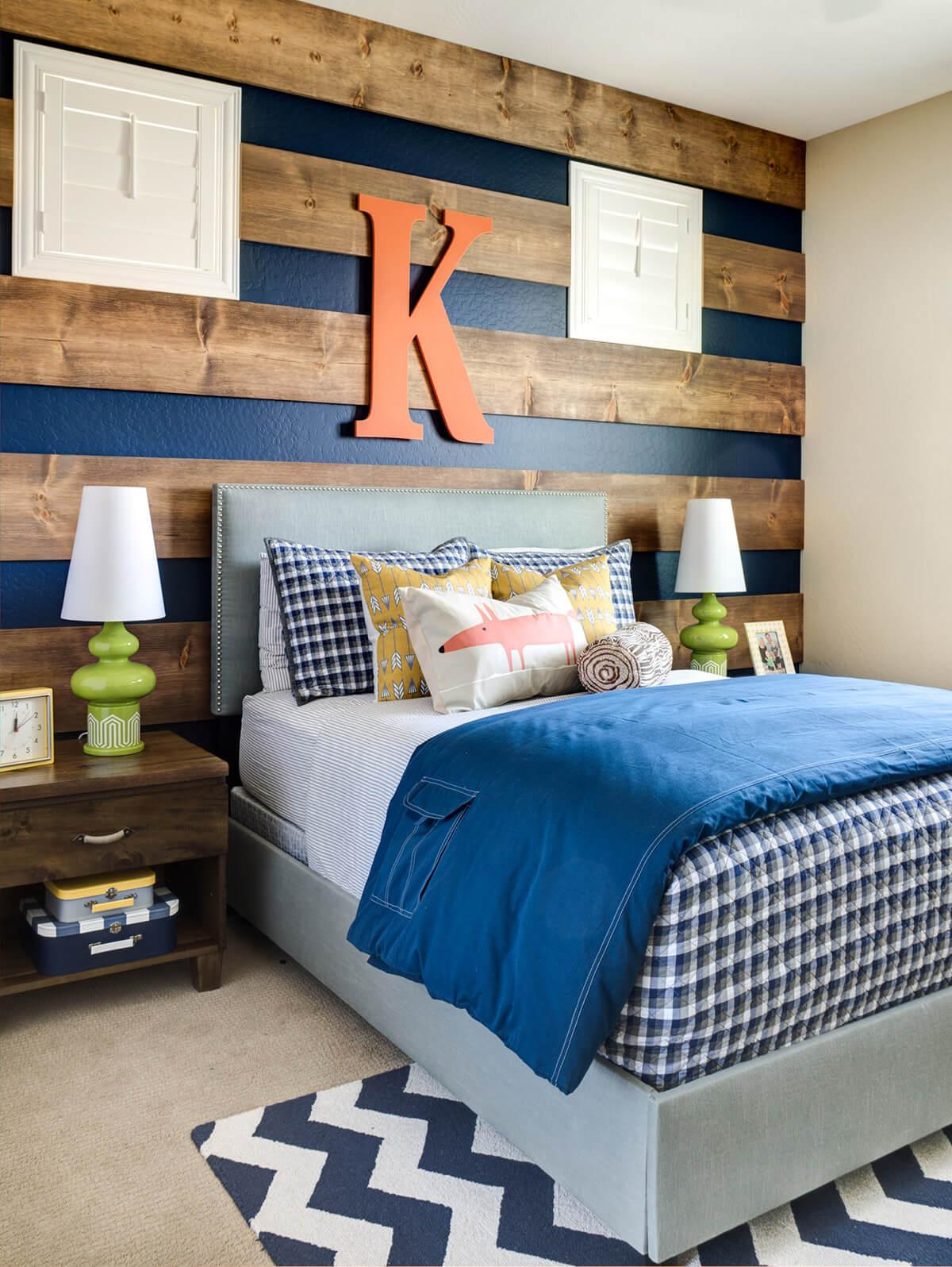 Woodsy Blue Teenage Boy Room Decor Ideas