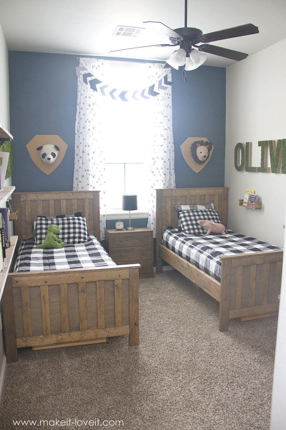 Ideas for a Shared BOYS Bedroom (yay, all done!!) | via  www.Traveller Location