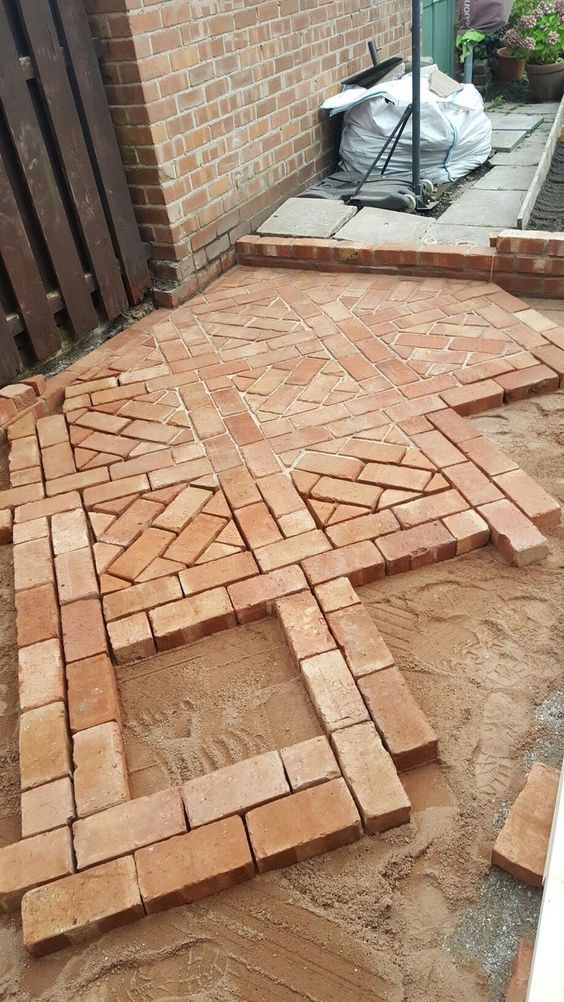 Bright colors are wonderful additions to any patio. They can act as borders  or as a sign of something else. You can use them in multiple whorled  patterns or