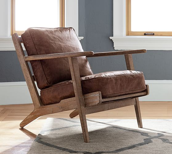 Raylan Leather Armchair | Pottery Barn