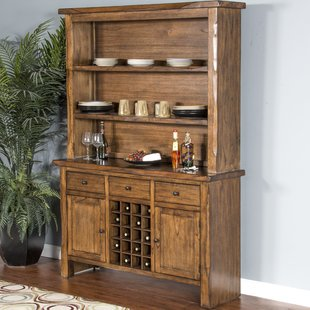 Alsatia Live Edge Buffet Table and Dining Hutch