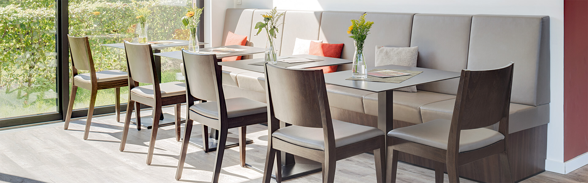 Café furniture and bistro furniture with a casual flair