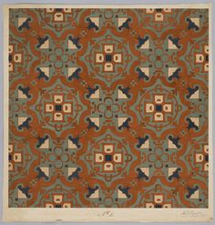 Carpet Design by M.D. Renssen, 1895 / 1899. Deventer Musea, CC BY-