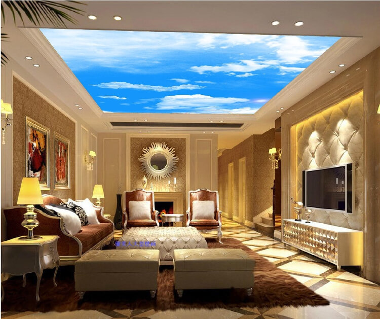 The right photo ceiling can make your room feel wider. Nothing represents  openness and freedom