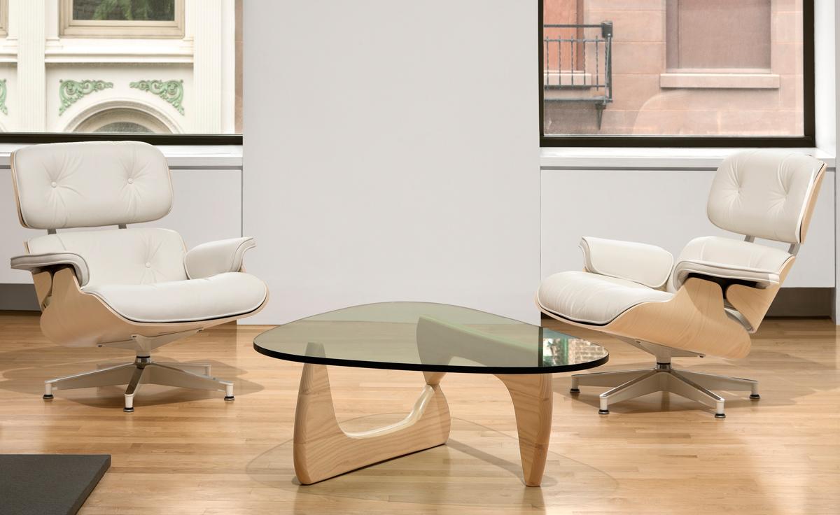 White Ash Eames® Lounge Chair & Ottoman