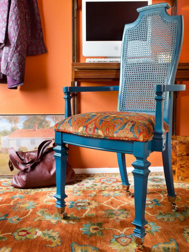 Chairs and Ottomans: Vintage Makeovers and Upcycled Seating