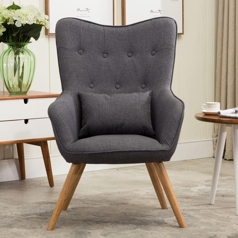 2019 Mid Century Modern Style Armchair Sofa Chair Legs Wooden Linen  Upholstery Living Room Furniture Bedoorm Arm Chair Accent Chair From  Kenna456,