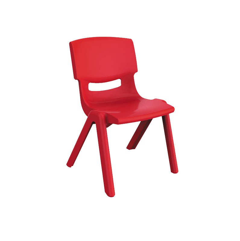 4Baby plastic kids chair red