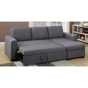 Chaise Sofa With Pull Out Bed | Wayfair