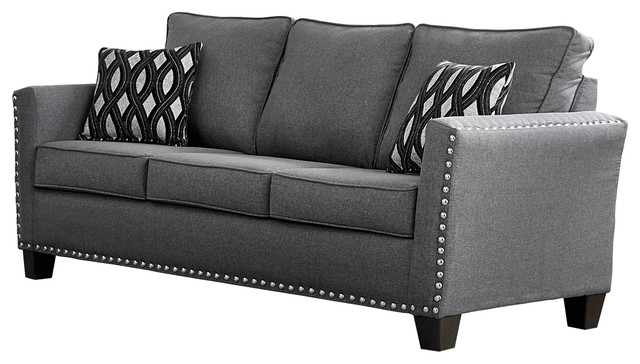 Carolina Chenille Sofa, Gray