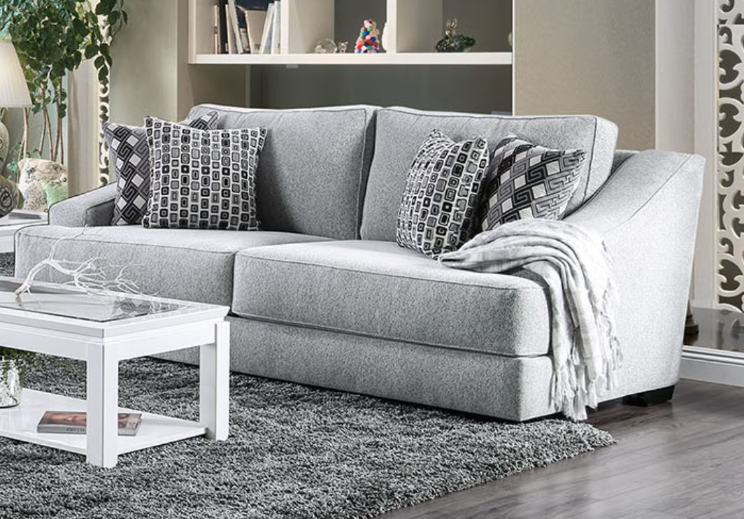 Furniture of America Lesath Chenille Sofa