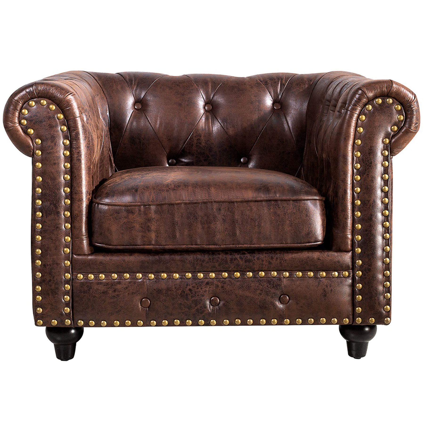 Chesterfield Tufted Chair, Brown · Chesterfield Tufted Chair, Brown