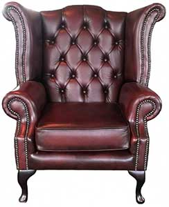 An Image of Chesterfield Queen Anne Armchair for Types of Chesterfield  Chairs